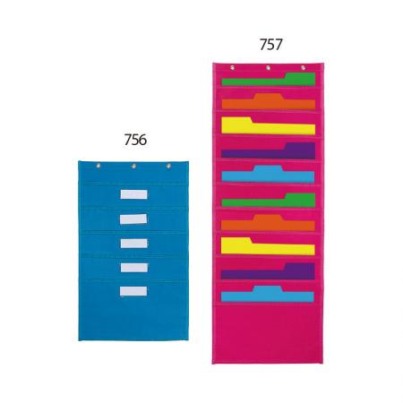 Wall Hanging Pocket Chart - Easy hanging on the wall, perfect for classroom and office use.