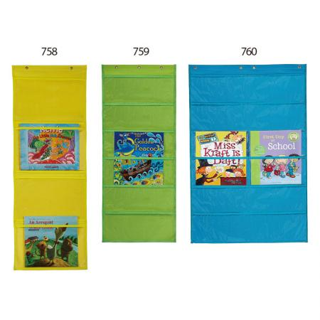 Organizer School Wall Pocket - Plenty of pockets to organize kids papers from school.Hanging file folders on wall.