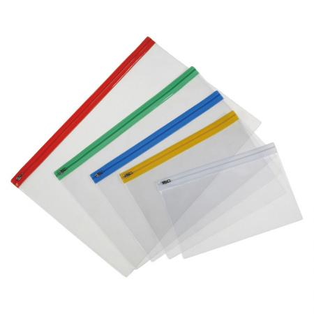 Transparent Zip Bag - With zipper closure type that is quite easy for your daily use.