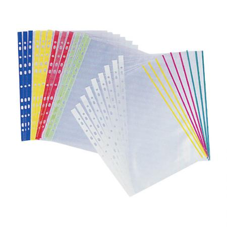 Colored Sheet Protector - Assorted color edges are perfect for reports and official documents.