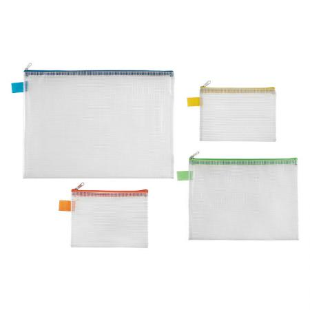 Mesh Bag - Zipper file bags with large capacity, a good choice for travelling storage.