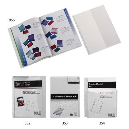 Magazine Holder A4 / Punched Pocket - Perfect for store booklets, textbook, legal papers or other important documents.