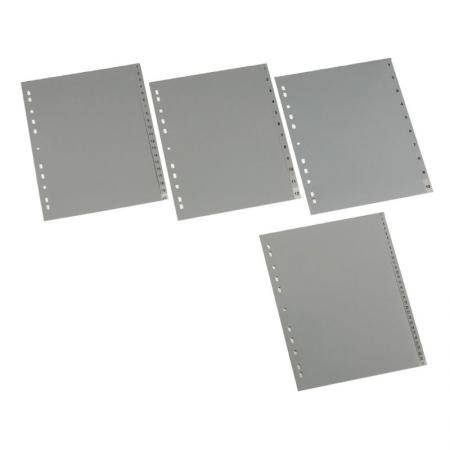 Poly Index - Large tabs provide a large print area and insert from the side for a secure fit.