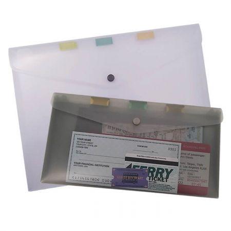 กระเป๋าโฟลเดอร์ซองจดหมาย - แฟ้มเอกสาร 3 ช่อง ทำจากวัสดุ PP น้ำหนักเบา พกพาสะดวก ดีไซน์เพรียวบางง่ายต่อการใส่เคส/กระเป๋าเป้ของคุณ