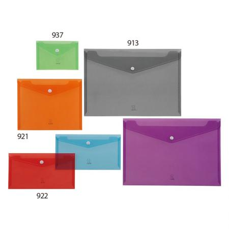 Button Closure PP Carry Folder - Various kinds of size to store documents, artwork, photographs.