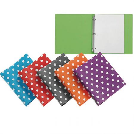 Ring Binder - Polka Dot Ring Binder