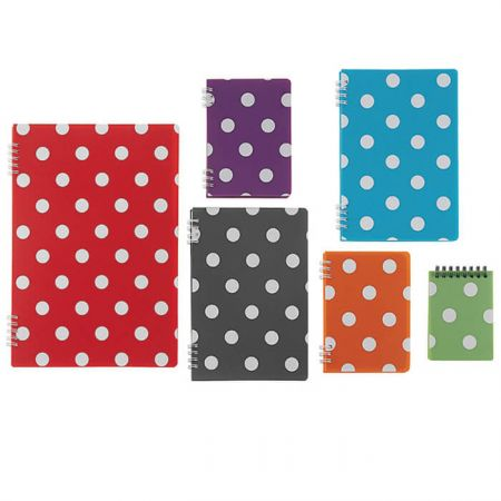 Polka Dot PP Spiral Notebook - Polka Dot Sprial Notebook