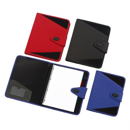 Padded Fabric Cover Plastic Binder Notebook - Kilvington Notebook