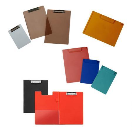 לוח פלסטיק עמיד - מנגנון קליפ מתכת לאבטחת ניירות.
