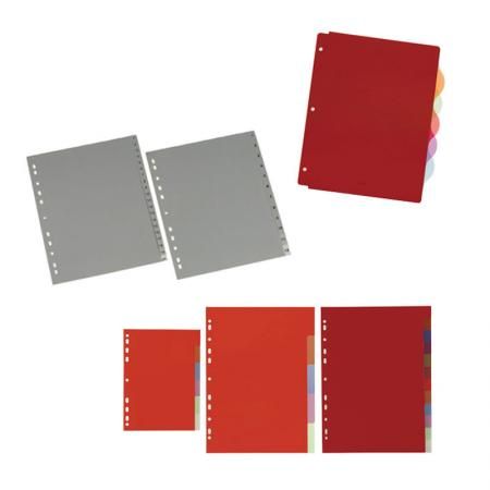 PP Binder Divider - Non-stick poly dividers are archival safe for documents and access sections easily.