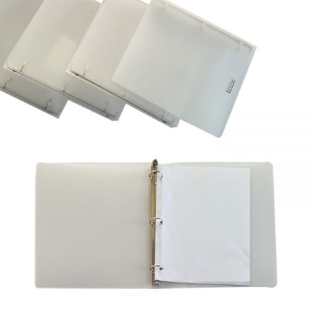 artimiki Stationery-type Portfolios PP 3 Hole Ring Binder - Ideal for organizing projects, presentations, and more.