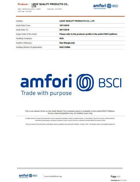 Leos' has been certified to meet the Standards BSCI