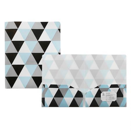 Cartella doppia tasca geometrica in PP - Cartella doppia tasca geometrica