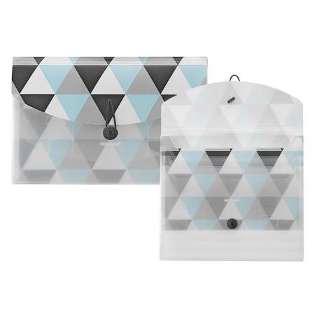 Cartella tascabile scorrevole in PP geometrico - Selezionatore scorrevole geometrico
