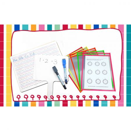 Dry Erase Pockets and Accessories - Dry erase pockets - available to multiply using for different users in office, school, factory, and home.