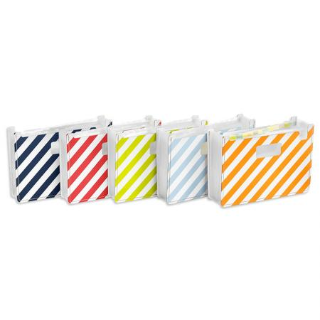 Horizontal Expandable File - LE Stripes Horizontal 13 pocket Accordion Expanding File