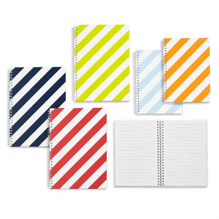 Hard Cover B5 Sprial Notebook - LE Stripe HardCover Sprial Notebook B5