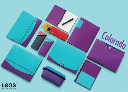 Colorado Duotone Design Filing Stationery Series - Made from foam polypropylene, bi-color sheet combination filing products.