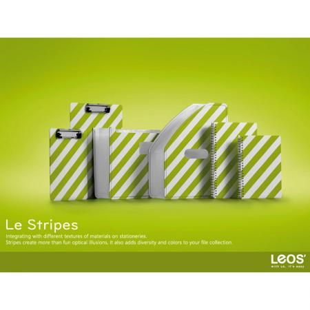 Le Stripes Pattern PP Foam Cover Filing Stationery Series - Le Stripes Series