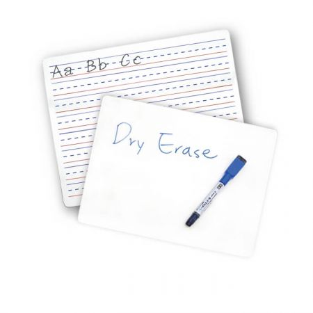 Dry Erase Board - The double sided dry erase board is made of double-sided, laminated MDF. It can easily write and wipe.