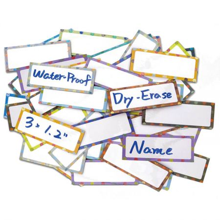 Magnetic Locker Label - The magnetic data strip name tags are used for locker and whiteboard.