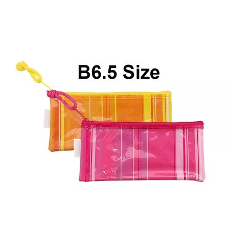 B6.5 Size PVC Pencil Pouch - Ideal for stationery, mobile phone, pencil, cosmetics and personal belongs... etc storage purpose.