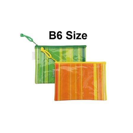 B6 Size Zip Lock Plastic Pouch Bag for Storage - Ideal for stationery, mobile phone, pencil, cosmetics and personal belongs... etc storage purpose.