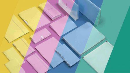 PP Pastel Color Filing Stationery Series - Pastel Pastel Series
