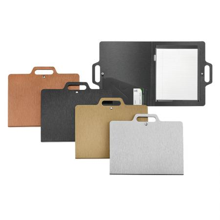Brushed Metal Look Carry Padfolio - Silkrado Carry Padfolio