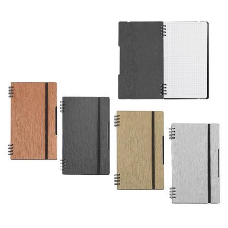 Brushed Metal Look Handy Notebook - Silkrado Handy Notebook