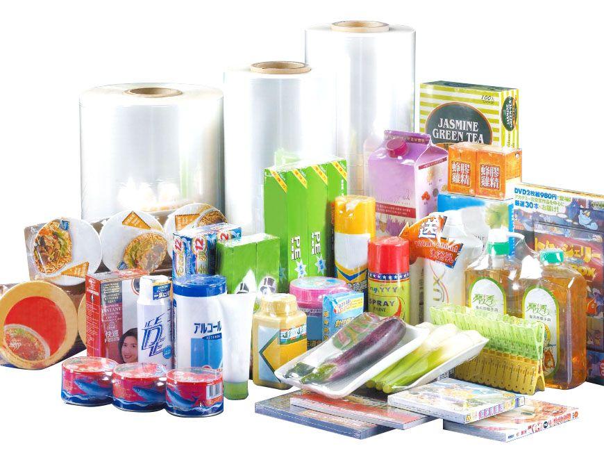 Material de embalagem termoencolhível / Filme termorretrátil