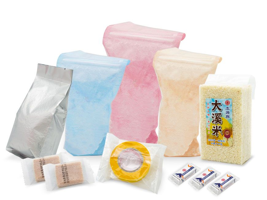 Material de embalagem macio (material em camadas) / Saco de pé com zíper