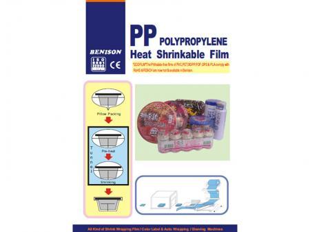 Filme PP termorretrátil - Película retrátil PP / Película PP / PP