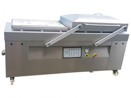 Large Size Dual Chambers & Single Cover Vacuum Packaging Machine