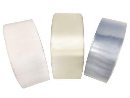 PVC shrink tubing for tamper evidence