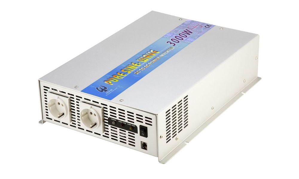 グリッド接続されていないDC-AC正弦波電力インバーター3000Wは、オプションの省電力モードとデュアル入力電源コードで追加できます