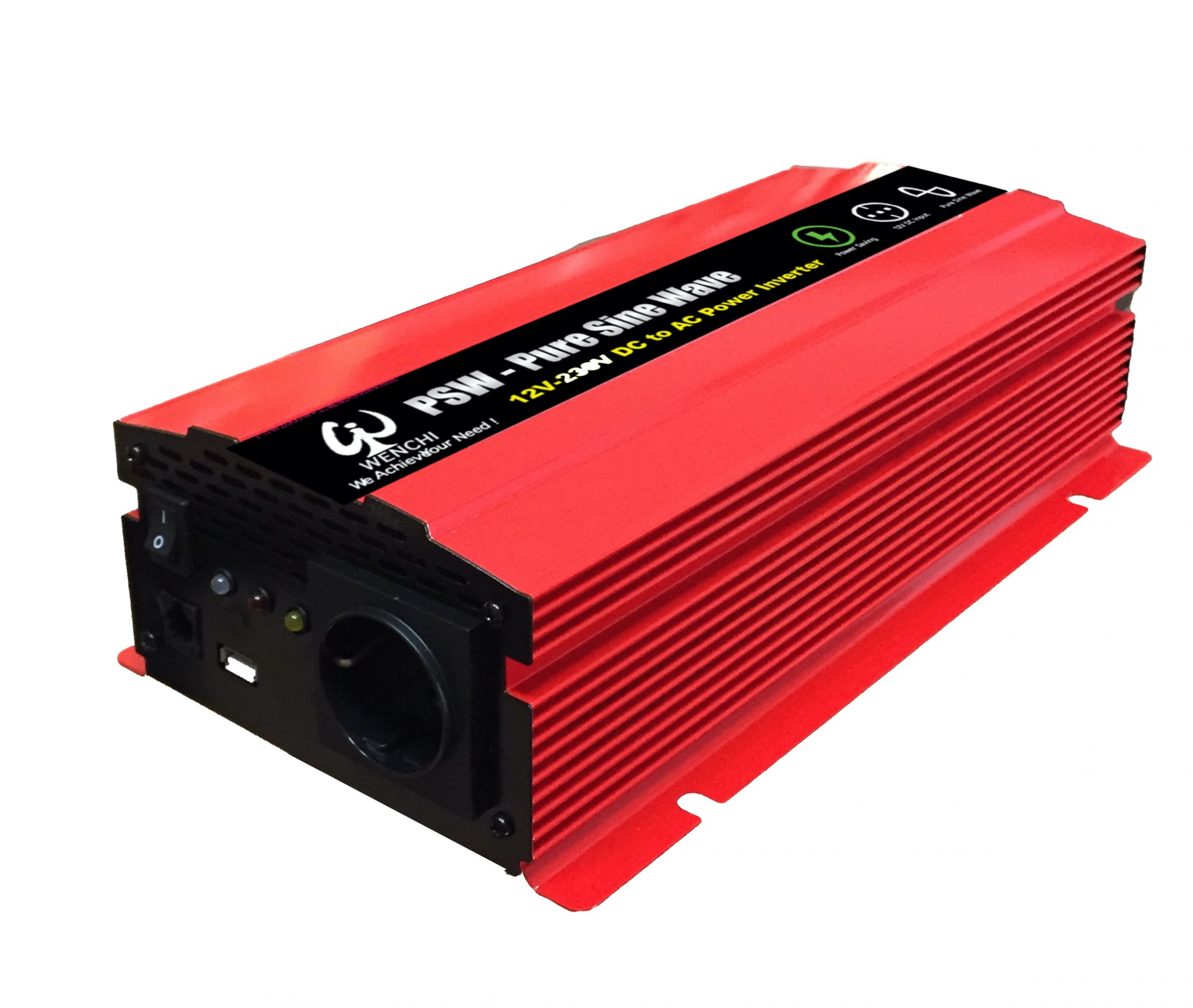 Wechselrichter Modifizierter Sinus Wechselrichter 220V LCD Digital 1000W Auto Wechselrichter USB Ladeger/ät Modifizierter Sinus Wechselrichter 12V