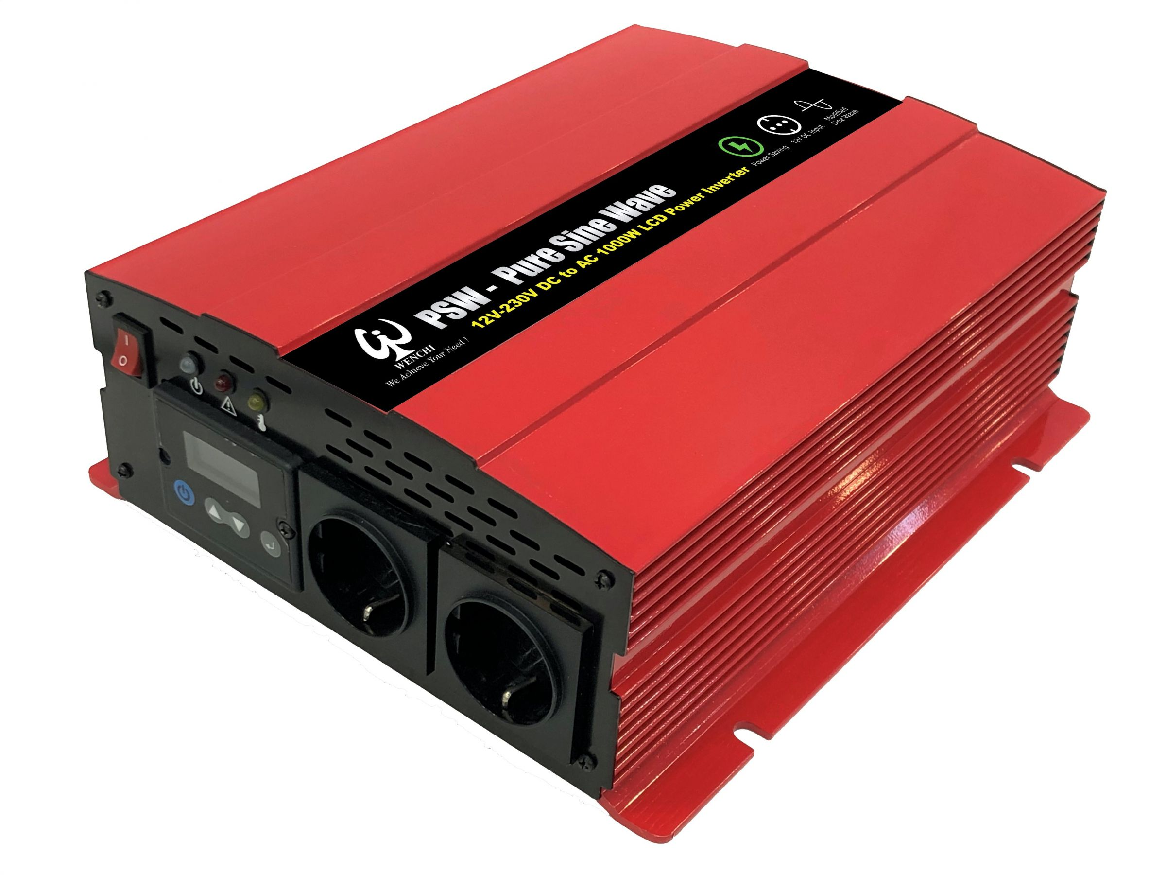 1000W Intelligent smart setting pure sine wave inverter with mounting LCD display board