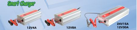110V/220VAC to 12VDC AUTOMATIC BATTERY CHARGER - AC to DC 7-STAGE SMART CHARGER