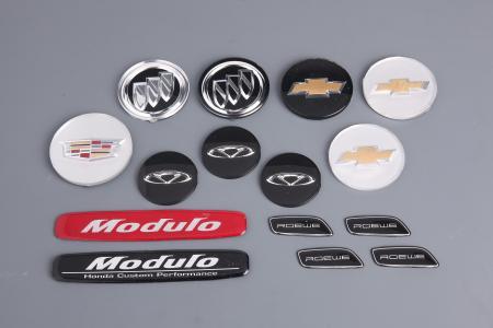 AUTO PLASTIC NAMEPLATES & DECALS - Auto Electroplating Nameplates