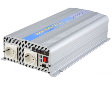 1000W PURE SINE WAVE STROOMOMVORMER 12V / 24V DC tot 115V / 230V AC - INT Pure Sine Wave Power Inverter 1000W