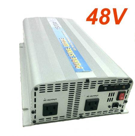 INVERSOR DE POTENCIA DE ONDA SINusoidal PURA 1500W 48V DC a 115V / 230V AC - Inversor de energía de onda sinusoidal pura INT 1500W versión EE. UU.