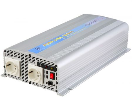 1500W PURE SINE WAVE STROOMOMVORMER 12V / 24V DC tot 115V / 230V AC - INT Pure Sine Wave Power Inverter 1500W