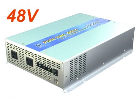 2000 W PURE SINE WAVE POWER INVERTER 48 V DC bis 115 V / 230 V AC - INT Pure Sinus-Wechselrichter 2000W US-Version