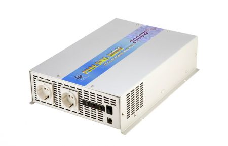 2000W PURE SINE WAVE STROOMOMVORMER 12V / 24V DC tot 115V / 230V AC - INT Pure Sine Wave Power Inverter 12V / 24V 2000W