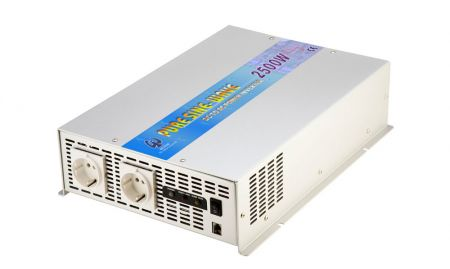 2500W PURE SINE WAVE STROOMOMVORMER 12V DC tot 115V / 230V AC - INT Pure Sine Wave Power Inverter 2500W