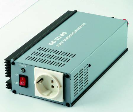 300W PURE SINE WAVE STROOMOMVORMER 12V / 24V DC tot 115V / 230V AC - INT Pure Sine Wave Power Inverter 300W