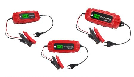 IP65 12V LCD BATTERY CHARGER with WINTER MODE - IP65 water resistant 12V LCD Smart Battery C#harger