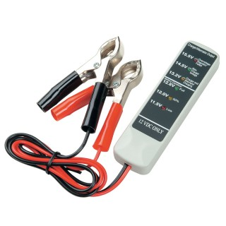 12V BATTERY TESTER - TWO CLAMPS - Battery Tester OBTC3