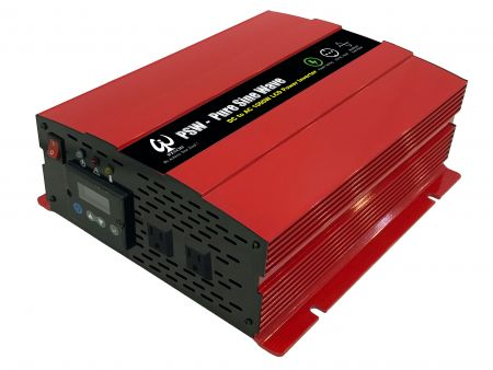 1000WLCDスクリーンディスプレイスマート正弦波電力変換器12VDC〜220V AC - 1000P12